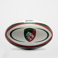 Leicester Tigers Official Replica Rugby Ball White/Green/Red