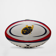 Munster Official Replica Rugby Ball White/Red