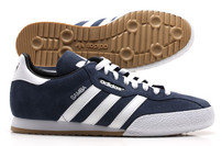 Samba Super Suede Football Trainers Classic Navy/White